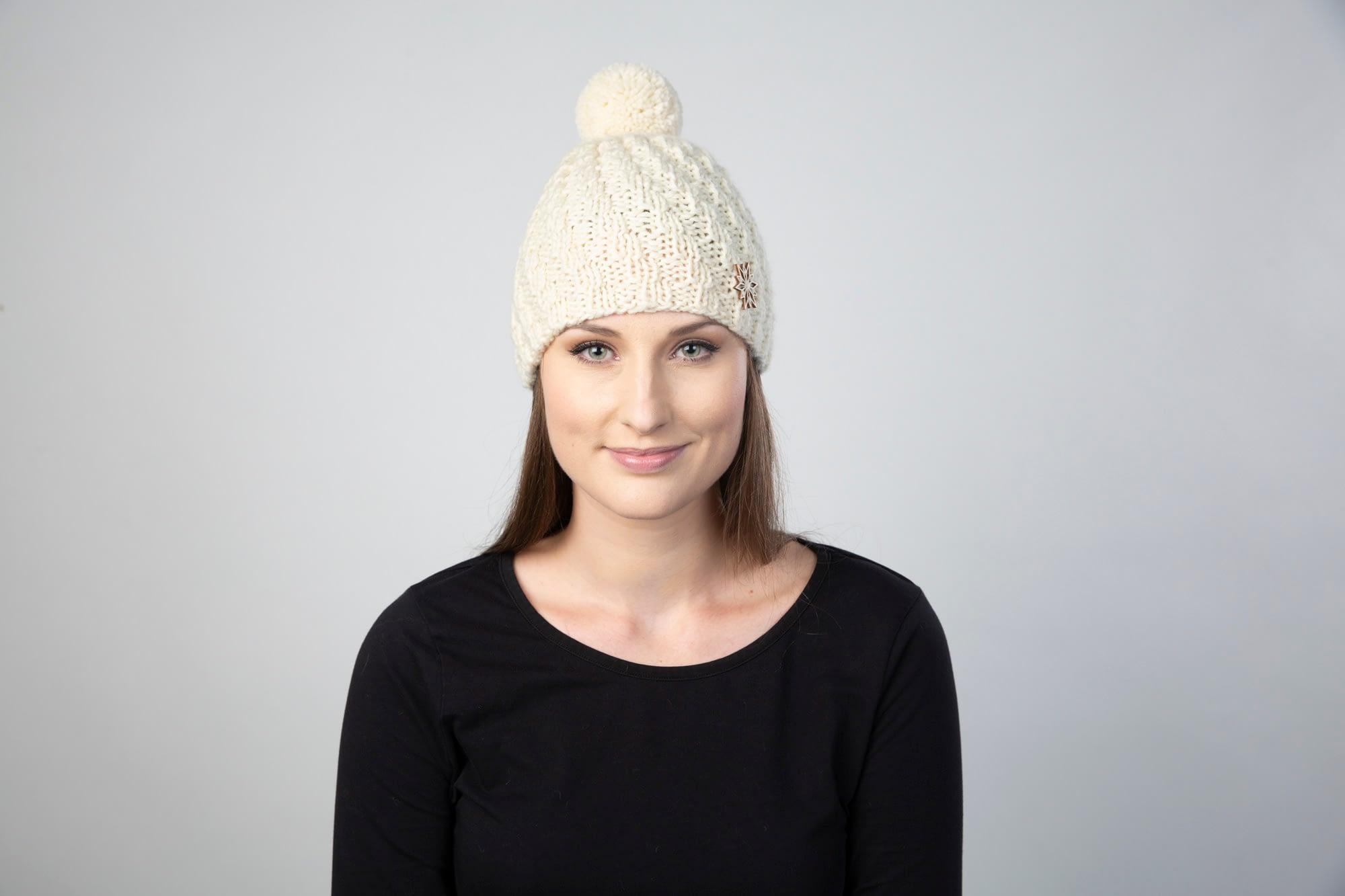 Naturals - Nora-beanie, natural White